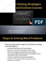problem solving strategies for math and science course
