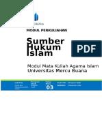 003. Modul 3..Sumber Hukum Islam