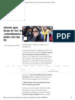 9 Factores Que Explican El 'No' de Los Colombianos Al Acuerdo Con Las FARC