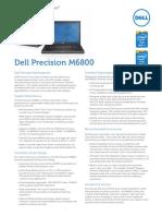 Dell Precision M6800 Spec Sheet