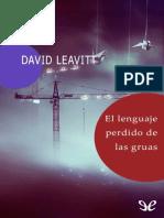 Leavitt, David - El Lenguaje Perdido de Las Gruas. [583] (r1.3)