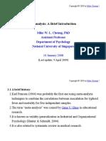 Meta Analysis - Brief Introduction