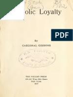 Catholic Loyalty 00 Gibb