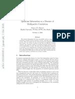 Quantum Information as a Measure of Multipartite Correlation