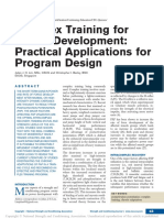 2016 Complex Training for Power Development; Practical Applications for Program Design