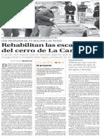 20-12-16 Rehabilitan las escalinatas del cerro de La Campana
