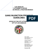 Gang Injunctions Program Guidelines