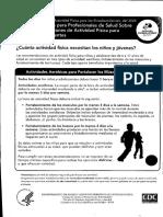 Actividad Fisica en Niños y Adolescentes