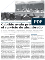 24-12-16 Cabildo avala privatizar el servicio de alumbrado