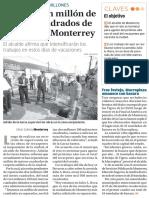 27-12-16 Reparan un millón de metros cuadrados de carpeta en Monterrey