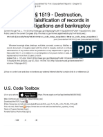 18 U.S. Code § 1519 - Destruction, Alteration, Or Falsification of Records in Federal Investigations