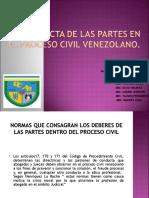 La Conducta de Las Partes en El Proceso Civil Venezolano