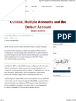 Outlook2016 Default Account in Mail Merge