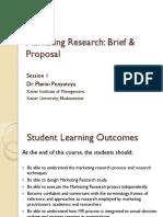 S 1-Marketing Research-Dr Plavini