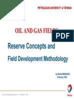 3- Reserve Concepts & Field Dev