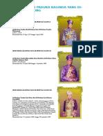 Senarai Seri Paduka Baginda Yang Dipertuan Agong Malaysia