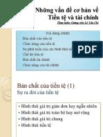 Chương 1_Những vấn đề cơ bản về Tài chính tiền tệ
