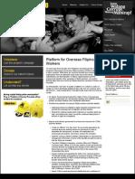 Action Plan on overseas Filipino workers (OFWs)
