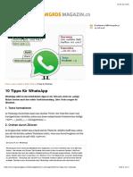 10 Tipps für WhatsApp