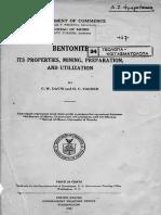 Bentonite C. W. Davis and H. C. Vacher