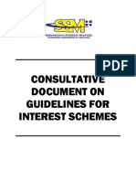 CONSULTATIVE DOCUMENT ON GUIDELINES FOR INTEREST SCHEMES