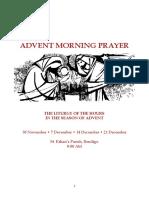 Wednesdays of Advent Morning Prayer (2016)