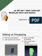 MeshLab Intro and Basics