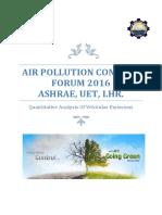 Air Pollution Control Forum 2016 Report