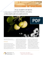 Nutritional Habits of Metis Children and Youth (English)