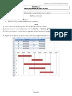 Práctica 6. Creación del diagrama de Gantt en Excel