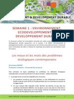 Environnement, Eco Developpement Et Dd 1