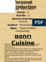 Bohri Cuisine Harsh Mishra