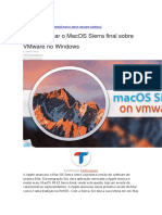 Como Instalar o MacOS Sierra Final Sobre VMware No Windows