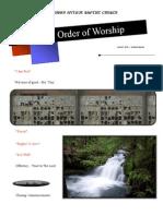 Order of Worship 06 27 2010 v1