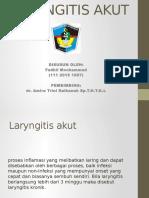 Laryngitis Akut Bonek