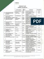 Phytochemindo Herbal Extract List