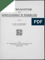 Het vraagstuk der goudclausule in Nederland / door Ph.B. Libourel
