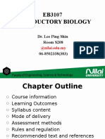 Introductory Biology Course Syllabus Intro