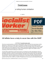 All Leftists Have a Duty to Sever Ties With the SWP – ThinkCease