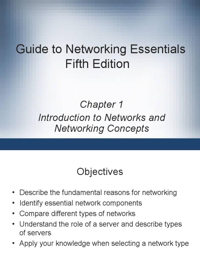 guide to networking essentials fifth edition server computing rh scribd com Intergraph Networks Essentials guide to network essentials