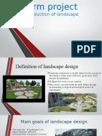 Presentation Land Scape Project 1