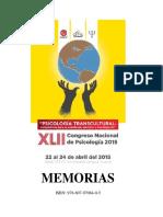 Memoria Xlii Congreso Nacional de Psicologia