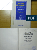 Polo de Ondegardo - El Mundo de Los Incas