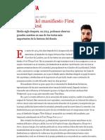 50 años del manifiesto First Things First | Samuel López-Lago Ortiz | FOROALFA
