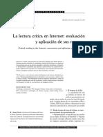 Lectura crítica en Internet. Evaluación y aplicación de sus recursos. Beatriz Fainholc.