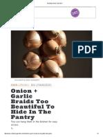 Braiding Onions and Garlic