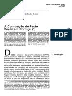 A Construção Do Pacto Social Em Portugal