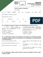 Examen Final - Bimestre II - 2do de Secundaria Lenguaje