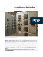 Types of Electrical Power Distribution Systems
