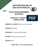 Practica 2.- Instrumentacion Puente de Weastone